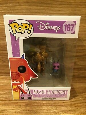 Funko Pop Disney Mulan #167 Mushu & Cricket Brand New Sealed