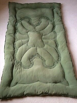 Vintage Green Feather Eiderdown / Quilt, Single size