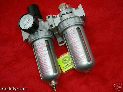 """AIR FILTER/REGULATOR/LUBRICATOR AIR INLET AND OUTLET 1/4""""suit compressor systems"""