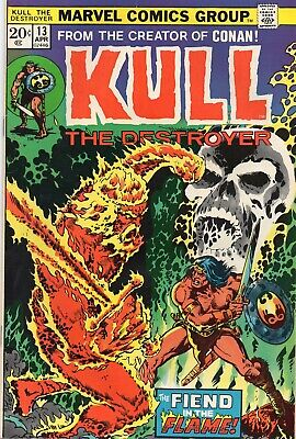 KULL THE DESTROYER #13 Marvel Comics 1974 VF Cents