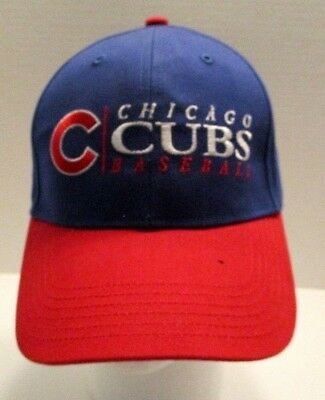 Chicago Cubs Baseball Hat Cap Embroidered Blue and Red Fan Favorite MLB