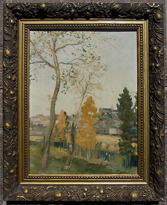 Very well painted European oil circa 1880 illegibly signed