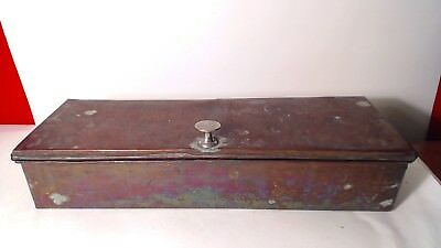 ANTIQUE/VINTAGE ARTS AND CRAFTS HAMMERED COPPER  box 14 1/2""