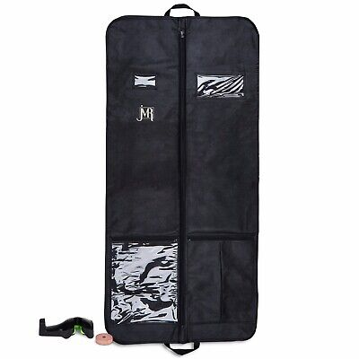 Garment Bag for Dress Suit Gusseted for Travel Storage with Pockets with Bonuses
