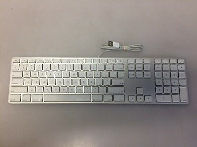 efe327ce17a MAC APPLE KEYBOARD Thin Aluminum A1243 Wired 2 USB Ports - For Parts ...