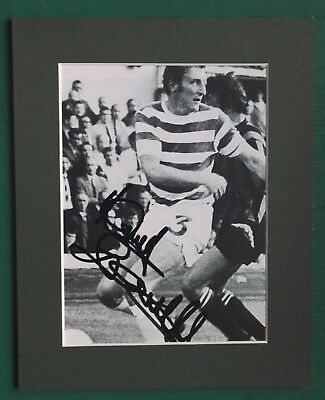 TOMMY GEMMELL CELTIC 1967 EUROPEAN CUP WINNER SIGNED 10 x 8 MOUNTED PICTURE COA