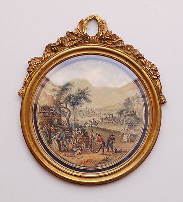 18th Century French Miniature Painting FESTIVAL Attr. LOUIS VAN BLARENBERGHE