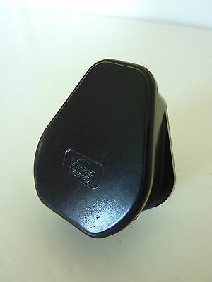 Vintage Old Art Deco Brown Bakelite Plug 3 Pin Volex Temco 5AMP 250V Polished