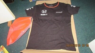 women's authentic TEAM MCLAREN SET UP T-SHIRT, size small, new, HONDA