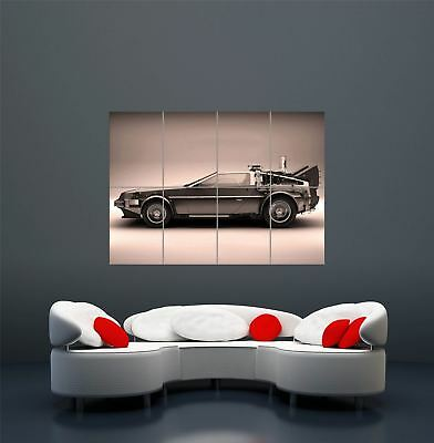 Back To The Future Delorean Giant Art Poster Print  Wa406