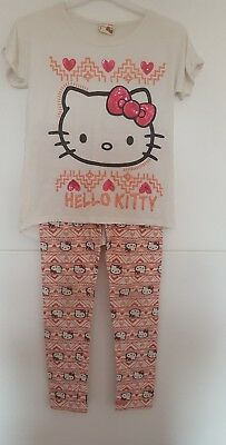 girls hello kitty  leggings and top 8 years
