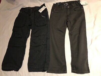 Two Pairs Of H&M Boys Trousers With Adjustable Waist Age 4-5 Years / EUR 110
