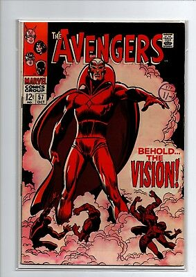 The Avengers #57 - 1st Vision - Marvel Comics - 1968 - VF