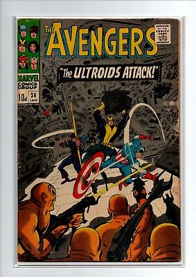 The Avengers # 36 - 1st Ixar & Ultroids - Marvel Comics - 1967