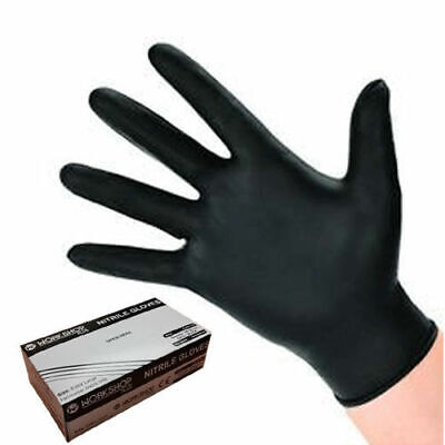 Nitrile Gloves Extra Large  BLACK - PACK -1000 WORKSHOPPLUS  WITH FREE DELIVERY