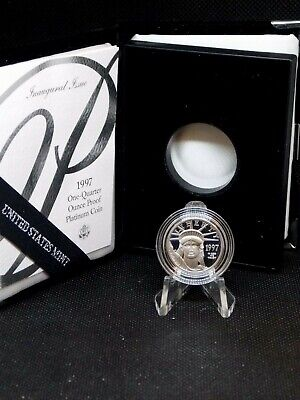 """1997 """"W"""" 1/4 oz Proof Platinum American Eagle East Coast Coin & Collectables"""
