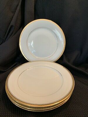 Noritake China RICHMOND Dinner Plates, Lot of 4, Gold Rim, Excellent Condition!