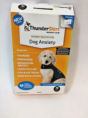 THUNDER SHIRT Dog Anxiety Solution Medium Solid Gray Worn once!