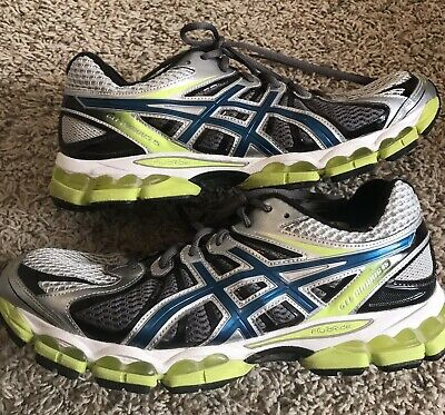 reputable site 2e30a 9413d ASICS GEL NIMBUS 15 Men's Running Shoes Lime Silver Blue Size 10.5 Wide