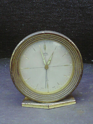 Rare Vintage clockwork Oris Alarm Clock -Swiss made -working