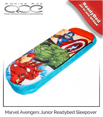 Avengers Junior ReadyBed Inflatable Airbed Sleeping Bag & Pump