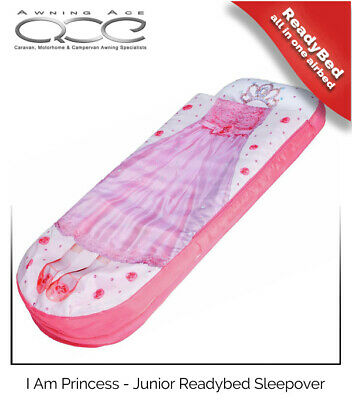 I Am A Princess Junior ReadyBed Inflatable Airbed Sleeping Bag & Pump