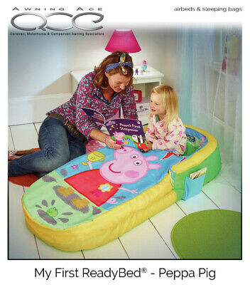 Peppa Pig My First ReadyBed Inflatable Airbed Sleeping Bag & Pump