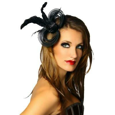 Mini Hat Fascinator Head Jewelry with Feather