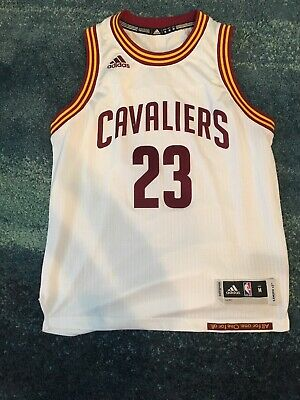 new product dd77c 74d35 CLEVELAND CAVALIERS LEBRON James Jersey Sewn Nike White Youth Size Medium  10-12