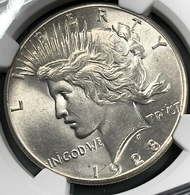 1928 P Peace Silver Dollar Ngc Ms63 Key Date Nice Luster Uncirculated Coin