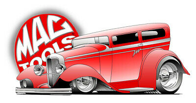 MAC TOOLS STICKER DECAL HOT ROD COUPE GARAGE MECHANIC TOOLBOX SIGN TIN CHEST USA