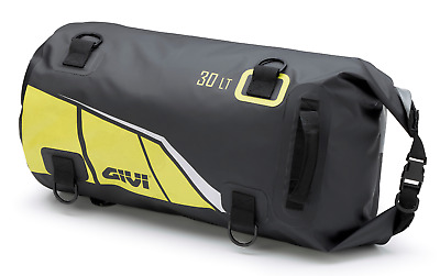 GIVI EA114BY Waterproof Cylinder Seat or Rack Roll Bag Black Yellow Soft Luggage
