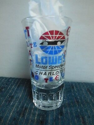 Lowe's Motor Speedway Charlotte  Shooter Shot Glass Whiskey Bar Ware