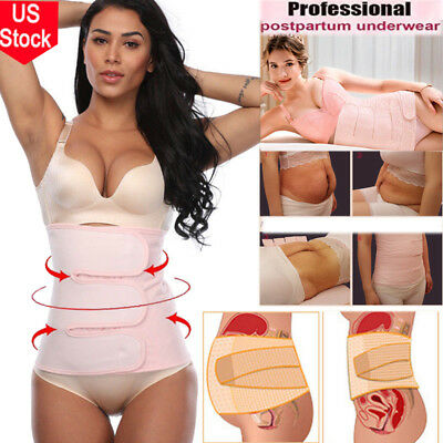 New Postpartum Support Recovery Belt Wrap Waist/Pelvis Postnatal Body Shaper Hot