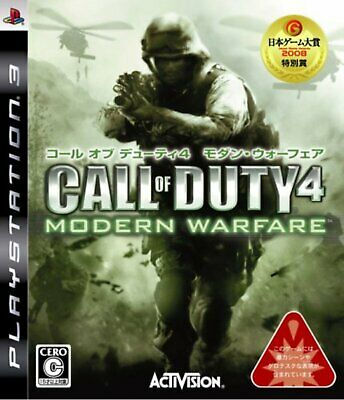 Game PS3 Call of Duty 4 Modern Warfare Japan Free Shipping w/Tracking# New Japan