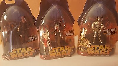 Star Wars -  Shaak Ti, Anakin Skywalker(Battle Damage), and C-3PO