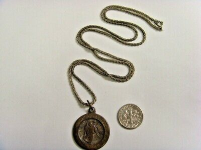 vintage old catholic Saint Christopher pendant from Bishop Choi to RP 49761