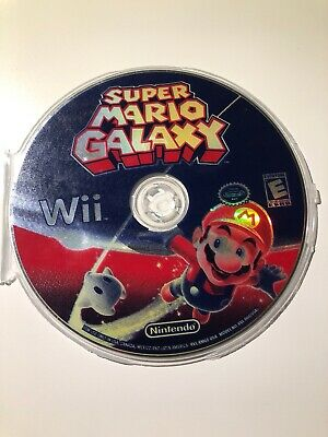 Super Mario Galaxy (Nintendo Wii, 2007) TESTED- DISC ONLY- FREE SHIPPING