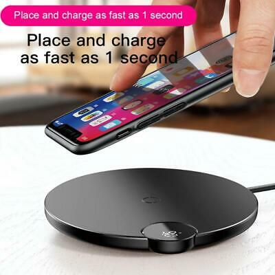 High Quality LED Digital Display Qi Wireless Pad 10W Fast Charger For Phone XR