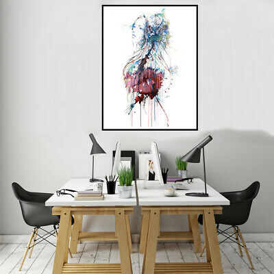 Watercolor Paint People Character Canvas Poster Print Picture Home Wall Decor
