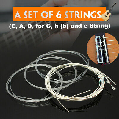 6PCS Durable Nylon String Guitar Strings Gauge Set for Classical Guitar