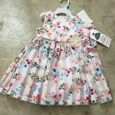 bd0074e7a NEW girls newborn baby RARE EDITIONS 24 months SPRING dress floral  sleeveless 9