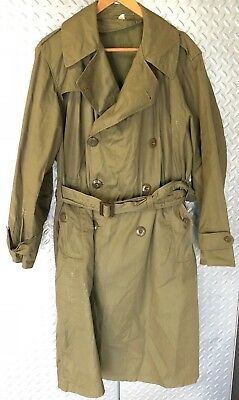 30250 Vintage WWII US Army Officers Overcoat ~ Field Combat Jacket Size 38S