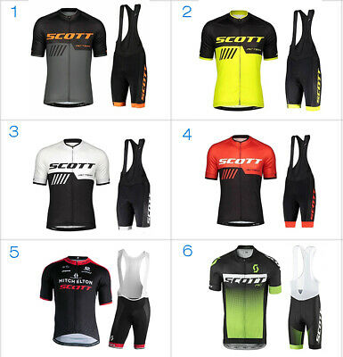 2019 SCOTT  Ropa Bici Ciclismo Cycling Jersey Maillot Culotte Conjuntos guantes