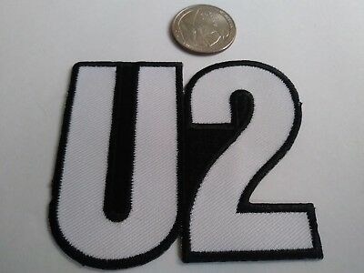 U2 THE FLY Logo Embroidered Patch Rock Pop Band Bono The