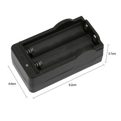 2 Slots 18650 Smart Charger 4.2V Li-ion Rechargeable Battery Wall Charger A3G9