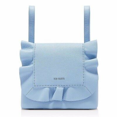 e1c45aab6 New TED BAKER Rammira Leather Ruffle Convertible Lady Backpack Rugsack Blue