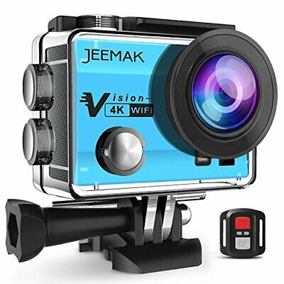 JEEMAK Action Cam WiFi Sports Cam 4K Camera mit 2.4G Fernbedienung 16MP Ultra F