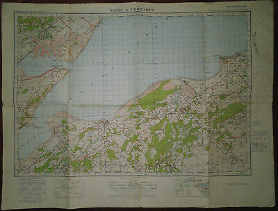Ordnance Survey 1:50000 4Th Ed. Military Map Of Ross & Cromarty - 1942