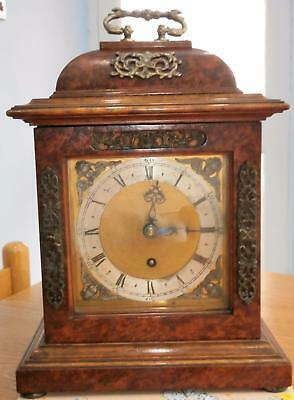 Queen Ann Style Single Fusee Amboyna Wood Bracket Clock